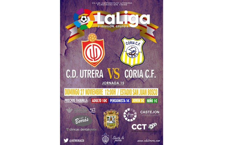 C.D. UTRERA – CORIA CF: Nueva oportunidad para enderezar el rumbo