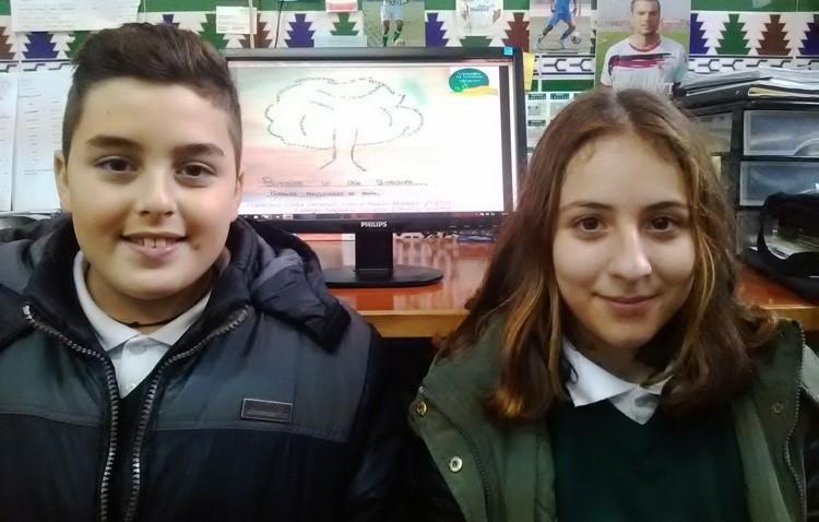 Dos alumnos del colegio Sagrado Corazón, ganadores de un concurso de la red de parques nacionales