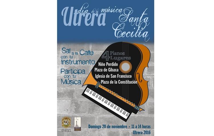 La música toma las calles de Utrera por el Día de Santa Cecilia