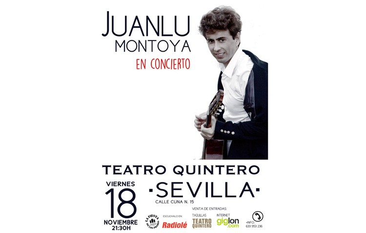 Concierto del utrerano Juanlu Montoya en el teatro Quintero de Sevilla
