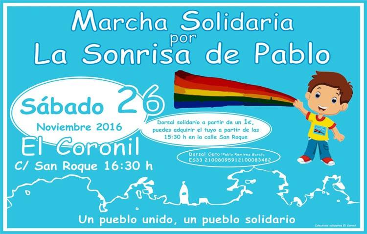 Una marcha solidaria a beneficio de un niño de cuatro años