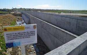 El arroyo Calzas Anchas ha culminado su desvío