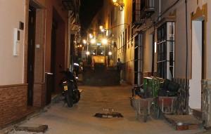 Obras nocturnas en la calle Menéndez Pelayo