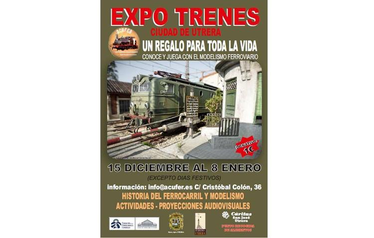 Una exposición con maquetas ferroviarias, talleres y proyecciones