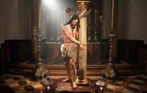 Los Aceituneros restauraron a su Cristo