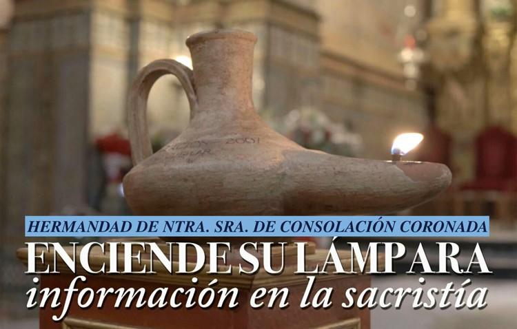La hermandad de Consolación encenderá la lámpara de aceite durante 2017 a beneficio de su bolsa de caridad