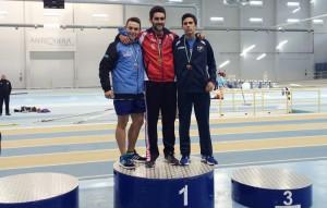 Curro Garrido, en el podium