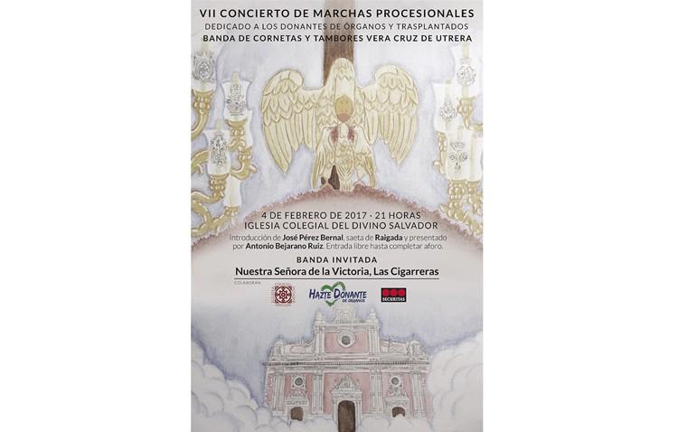 La banda de la Vera-Cruz de Utrera llega a la sevillana iglesia del Salvador con un concierto pro-donaciones de órganos