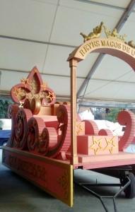 La carroza del rey Melchor, una de las que se estrenan este 5 de enero