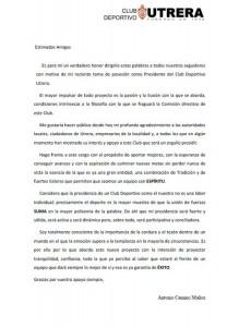 cd utrera - carta presidente 1