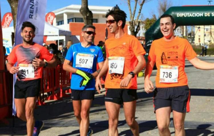 Atletas del Club Deporteando Utrera, presentes en el «V Gran Fondo Guadiamar» y en el «EPD medio Maratón Sevilla»