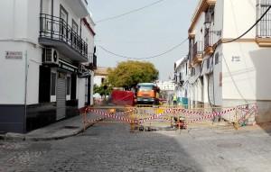 Las obras han llegado ya al cruce con Ponce de León y Farmacéutico Francisco Giráldez