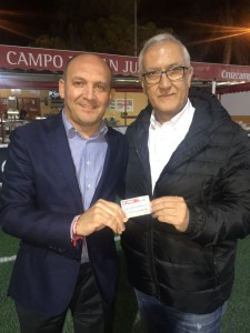 El presidente del C.D. Utrera junto a Gregorio Manzano