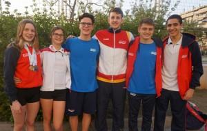 Deportistas del Club Natación Utrera