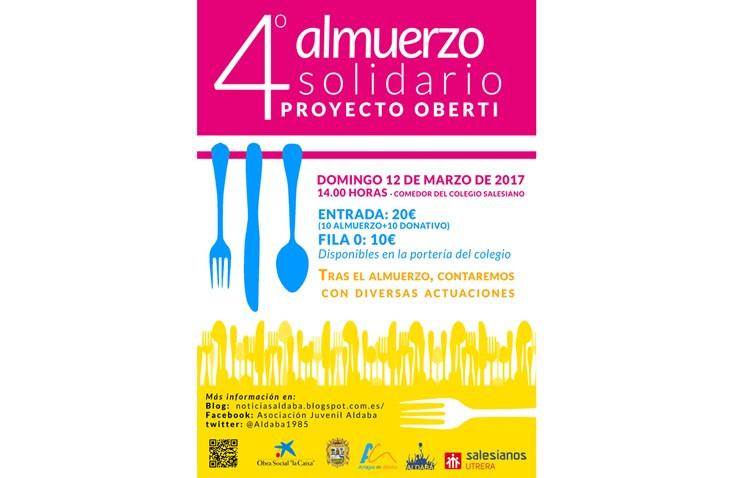Aldaba organiza su almuerzo solidario a favor del proyecto «Oberti»