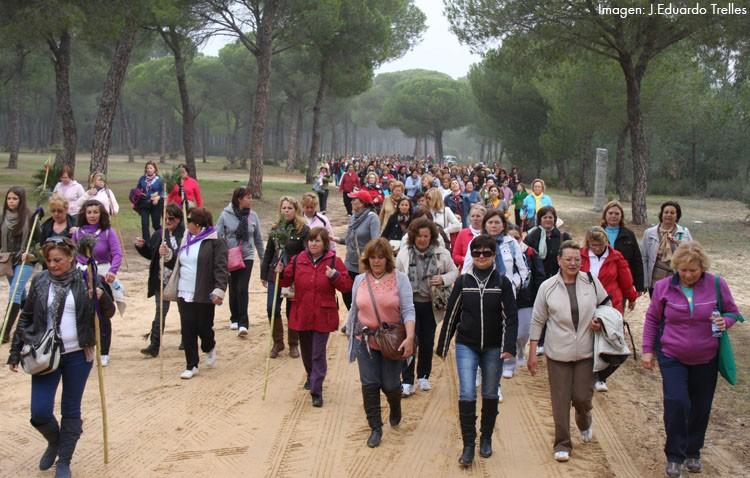 La hermandad del Rocío organiza su tradicional camino de mujeres