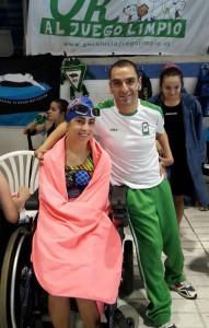 mercedes con el paraolimpico M A Martinez Tajuelo