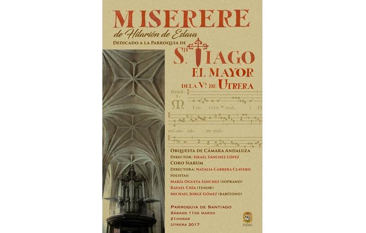 El Coro Siarum y la Orquesta de Cámara Andaluza recuperan el «Miserere» de la parroquia de Santiago