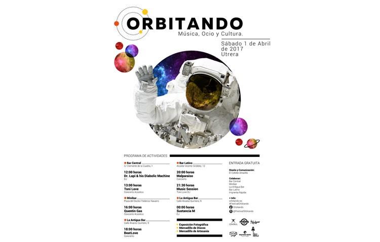 Conciertos, exposiciones y mercadillos darán vida al festival «Orbitando» que se celebra el 1 de abril en Utrera