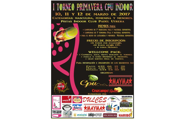 El Club Pádel Utrera organiza el I «Torneo Primavera»
