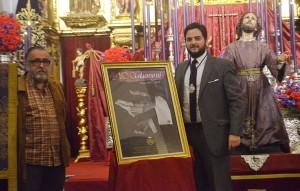 Pepe Florido y Salvador de Quinta, junto al cartel