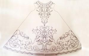 Diseño original de la túnica del Señor Orando en el Huerto