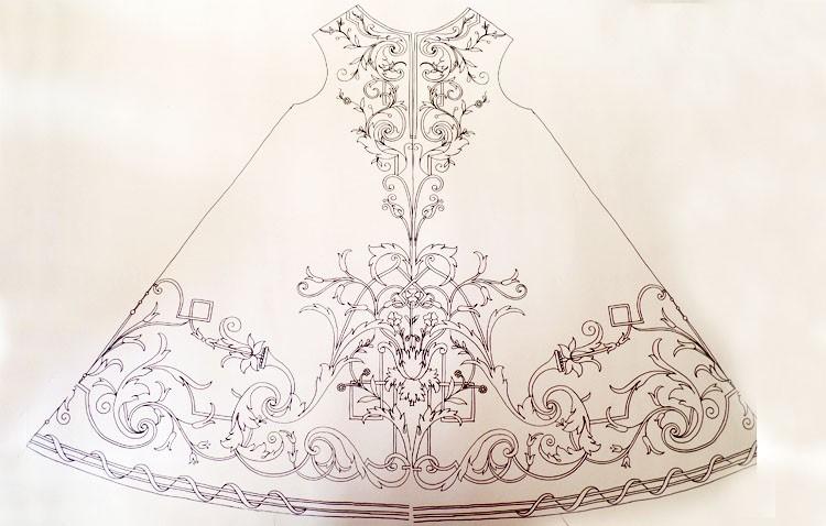 Descubren el diseño original de la túnica del Señor Orando en el Huerto, que podría ser obra de Rodríguez Ojeda