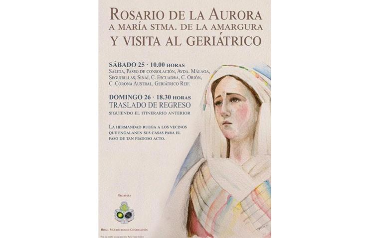 La Virgen de la Amargura visitará un año más el geriátrico de La Mulata