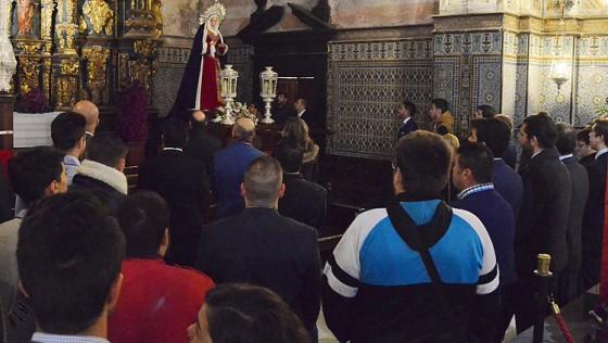 La lluvia obliga a posponer la visita de la Virgen de la Amargura al geriátrico