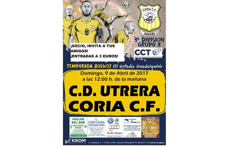 CORIA C.F. – C.D. UTRERA: Con los deberes hechos los utreranos lucharán por la Copa Federación