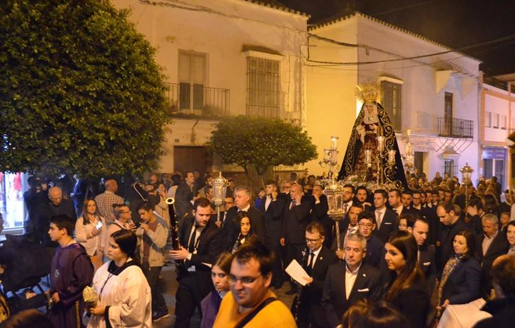 La corona dolorosa de la Virgen de las Angustias cerrará un año más la Cuaresma en Utrera