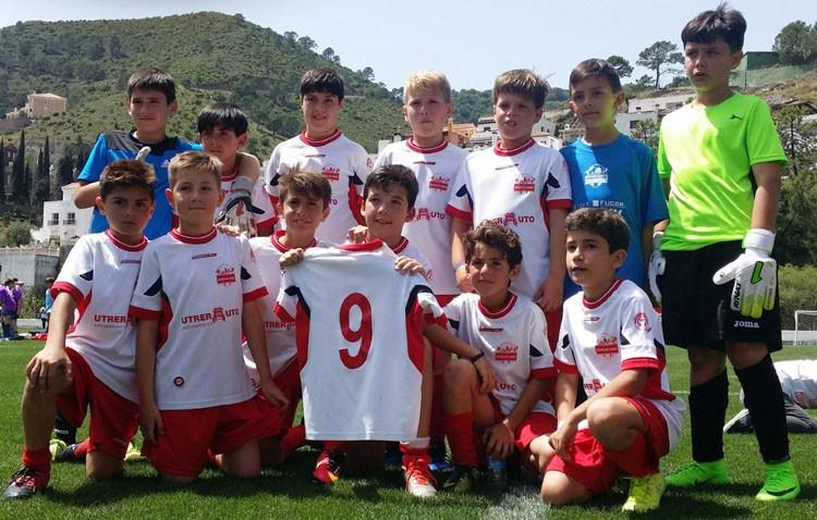 La escuela utrerana de fútbol, subcampeona de Andalucía