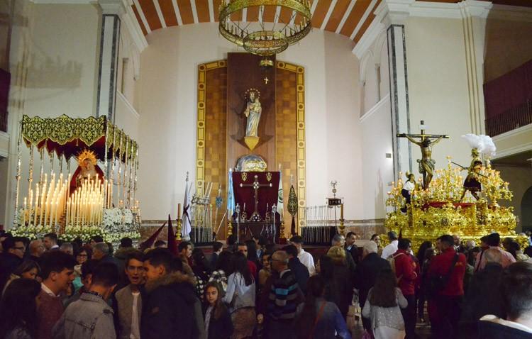 Martes Santo salesiano con el Cristo del Amor y la Virgen de las Veredas