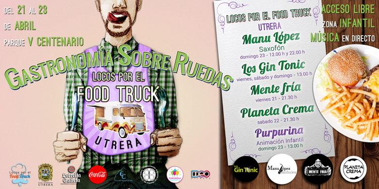 Gastronomía y música este fin de semana en Utrera con el evento «food trucks»