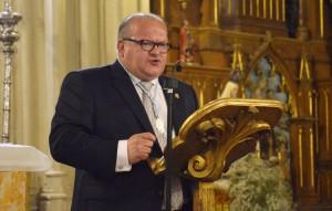 Javier León, durante su pregón