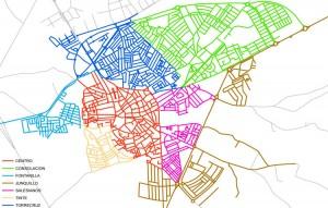 Zonas en las que ha sido dividida Utrera