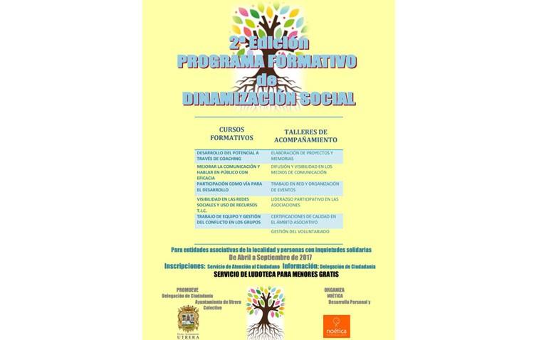 Cursos, talleres y actividades de dinamización social entre asociaciones y utreranos