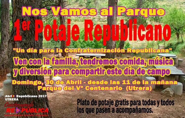 Potaje republicano en el parque del V Centenario