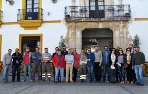 Los delegados sindicales participaron en la protesta, en representación de todos los trabajadores