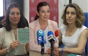 Tamara Casal, María del Carmen Cabra y Ana Cerrillo