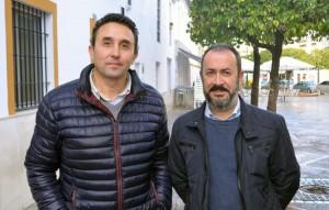 José María Palacios, secretario de organización de UGT; y Antonio León, secretario general de UGT