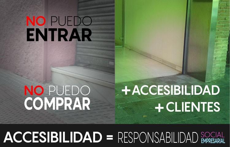 Una campaña de Apdis recuerda la próxima obligación de hacer los comercios accesibles a los discapacitados