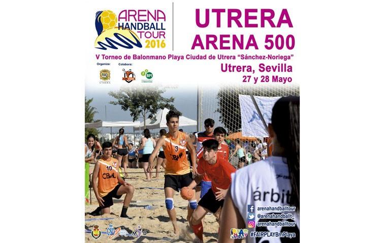 El Club balonmano Utrera celebra el primer Arena 500 de la temporada