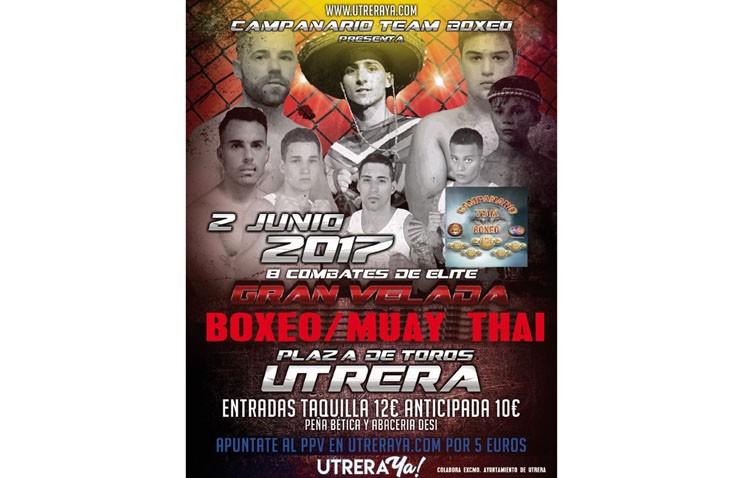 Gran velada de boxeo y muay thai en Utrera