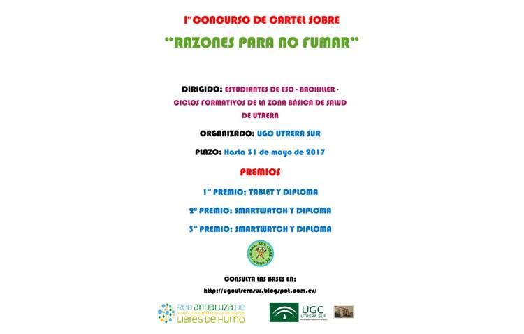 Un concurso de carteles entre los estudiantes con «Razones para no fumar»