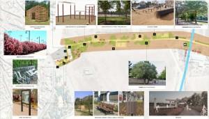 Una parte del corredor verde contará con pistas deportivas
