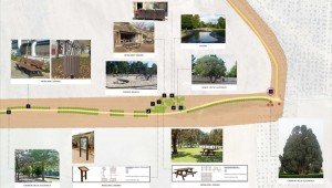 El proyecto contempla mobiliario urbano, señales y nuevos árboles