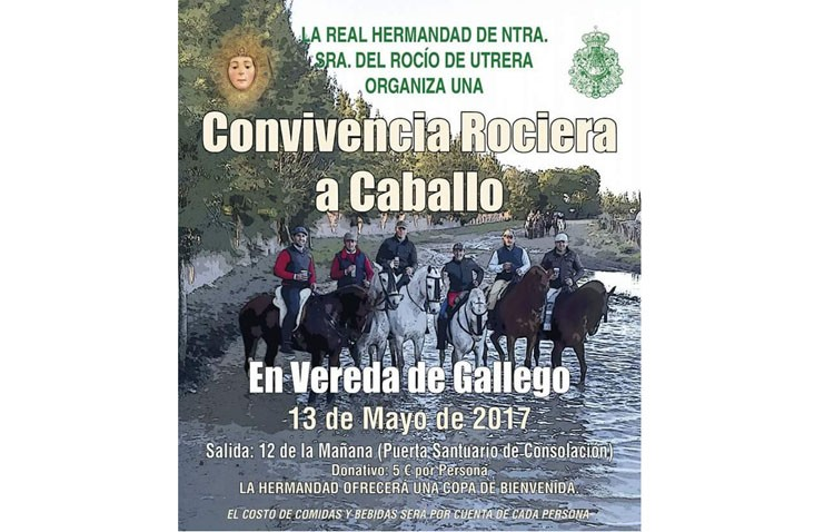 La hermandad del Rocío organiza una convivencia rociera a caballo
