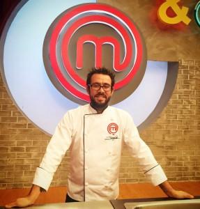Jesús Escalera, en el plató mexicano de MasterChef