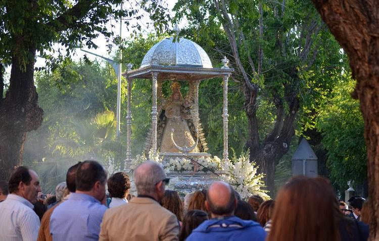 Un recorrido inédito para la procesión de la patrona de Utrera por las obras en el paseo de Consolación